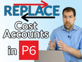 p6 assignment codes replace cost accounts
